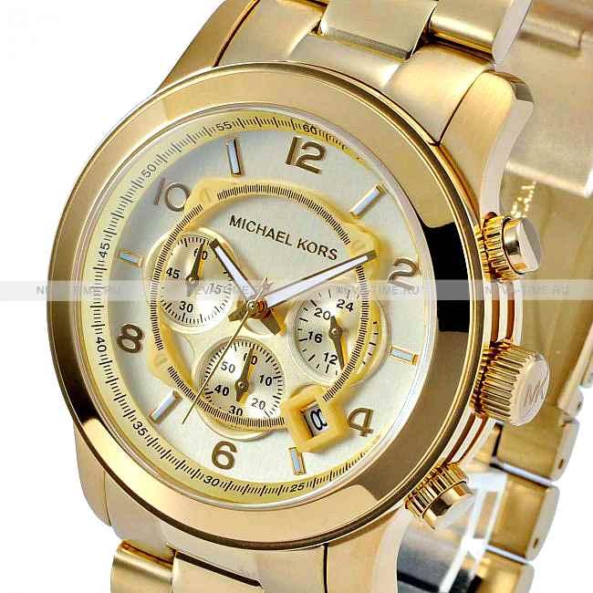 3b0565baaded Купить Часы Michael Kors Мужские Золотые Оригинал Runway MK8077 ...